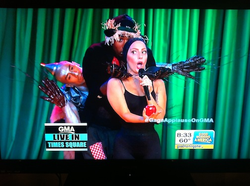 Custom Scarecrow Hands for Lady Gaga live performance on Good Morning America