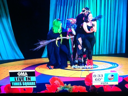 Custom Witches Broom for Lady Gaga live performance on Good Morning America