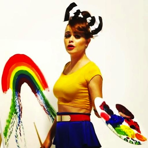 Taryn Manning wearing KRISTA bow in