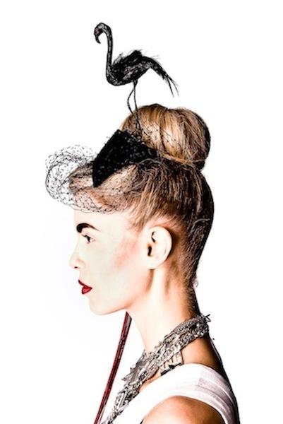 JUBILEE - flamingo headpiece