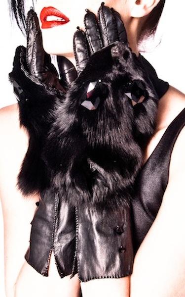 MARINA - genuine fox face gloves